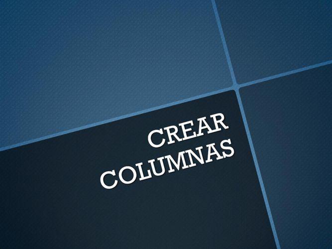 CREAR_COLUMNAS