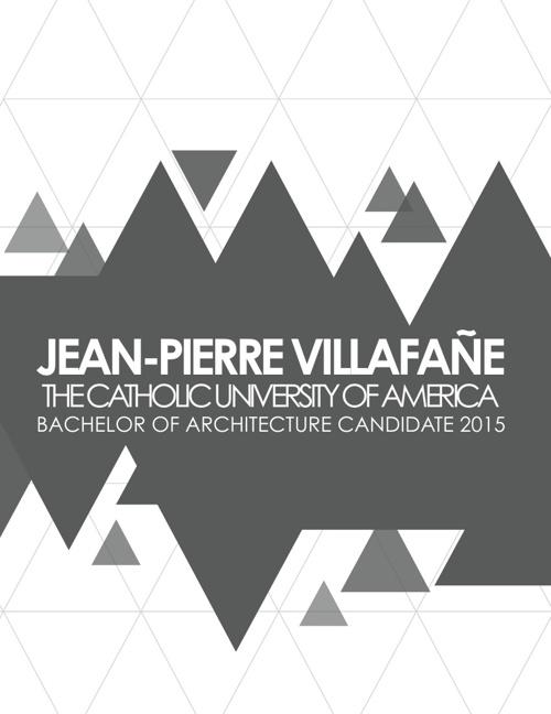 Jean-Pierre Villafañe: Architecture Student Portfolio