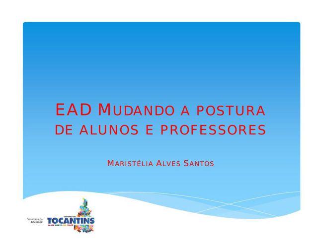 EAD mudando a postura de alunos e professores