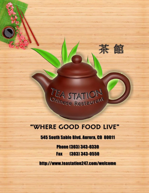 Tea Station Official Menu  With Happy Hours Specials