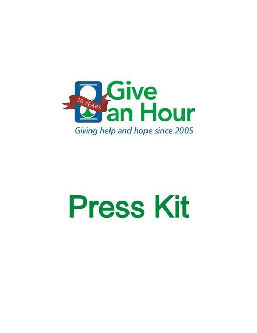 Give an Hour Press Kit 2015