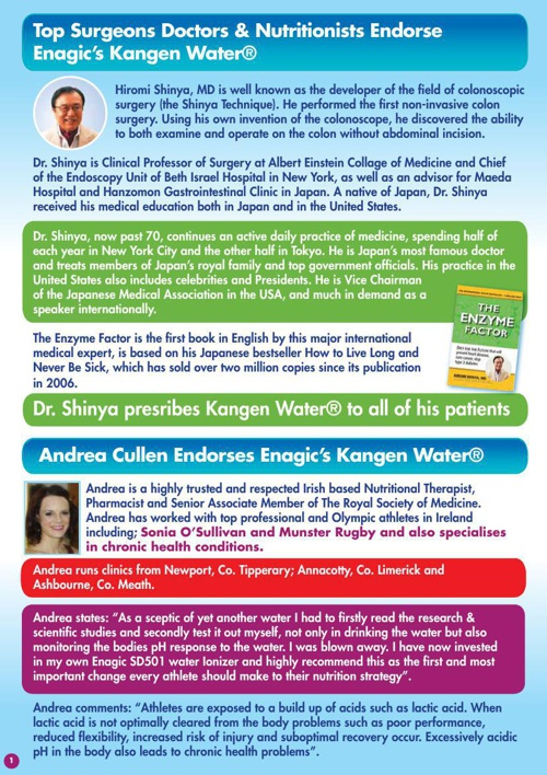Kangen Water® Ireland / Doctors Endorsements