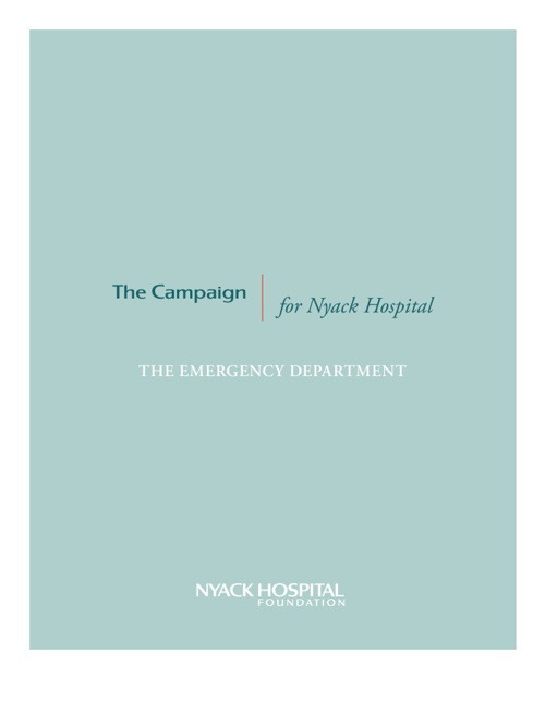 The Emergency Department : The Campaign for Nyack Hospital