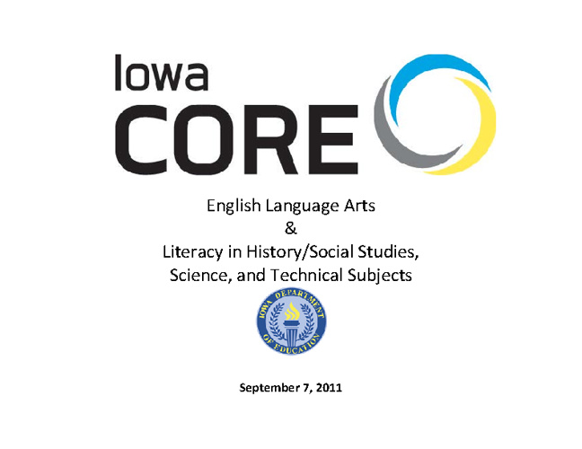 Iowa Core Literacy Standards