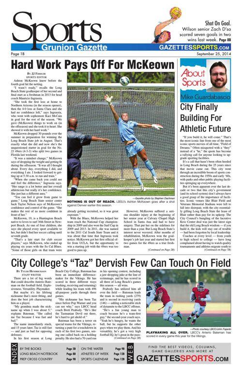Gazette Sports | September 25, 2014
