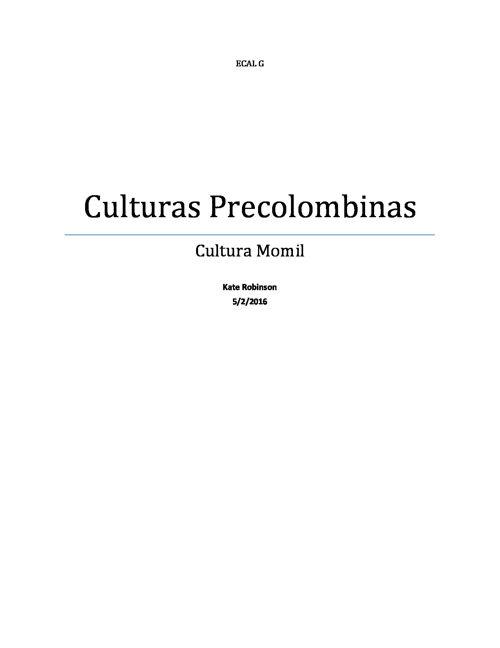 Libro de Cultura Precolombinas