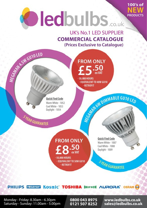 LED Bulbs Commercial Catalogue