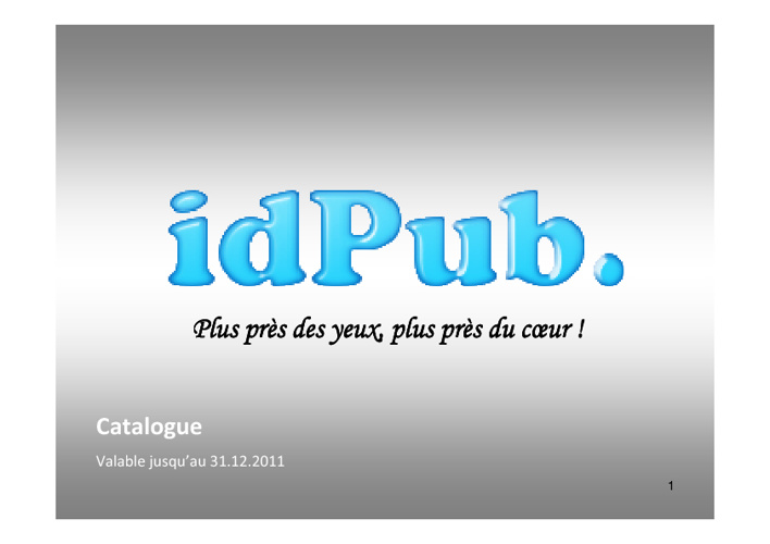 Catalogue idPub