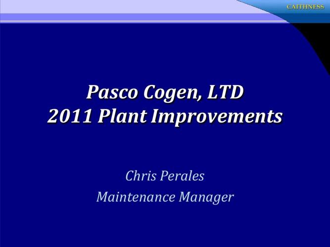 2011 Plant Improvements