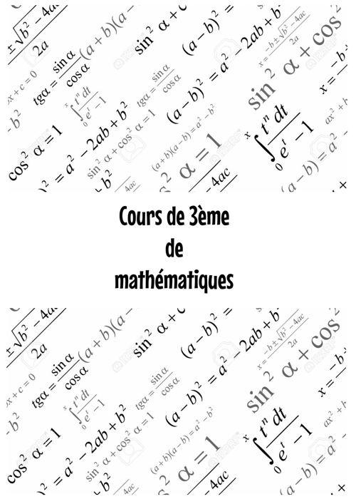 Cours 3eme math