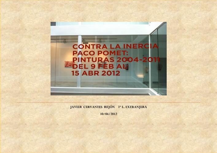 Paco Pomet - Against inertia