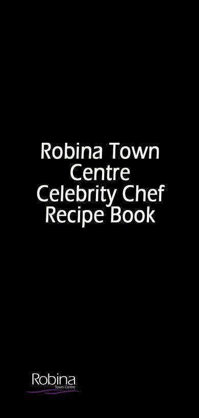 Robina Town Centre Recipe Book