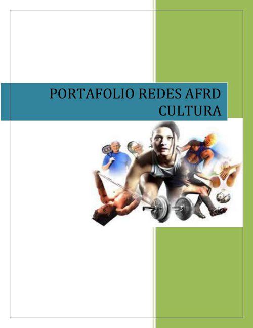 PORTAFOLIO REDES AFRD CULTURA 2015 FINAL