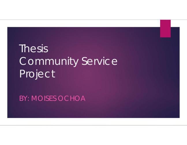Ochoa.m3 Community Service Project