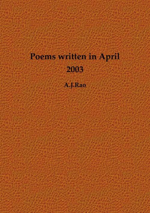 Poems written in April 2013