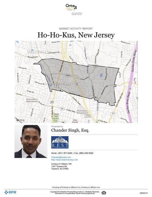 Ho-Ho-Kus Market Report 2014