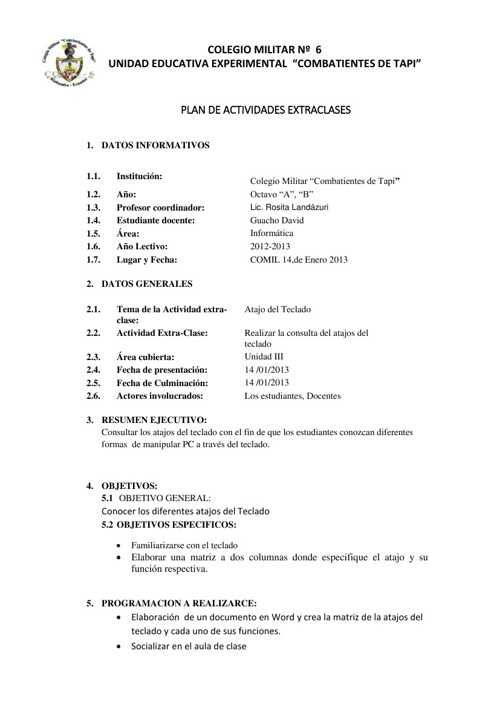 Copy of PLAN DE EXTRA CLASE Y PSICOPEDAGOGICA