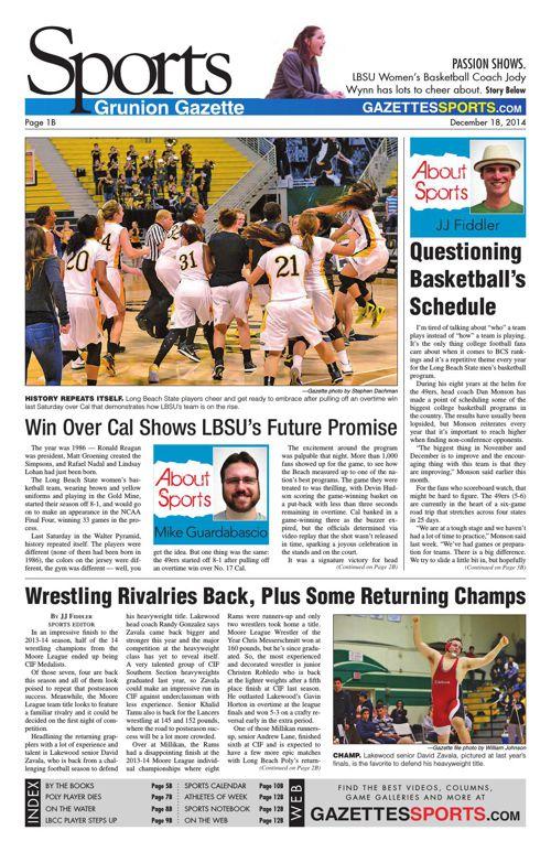 Gazette Sports | December 18, 2014