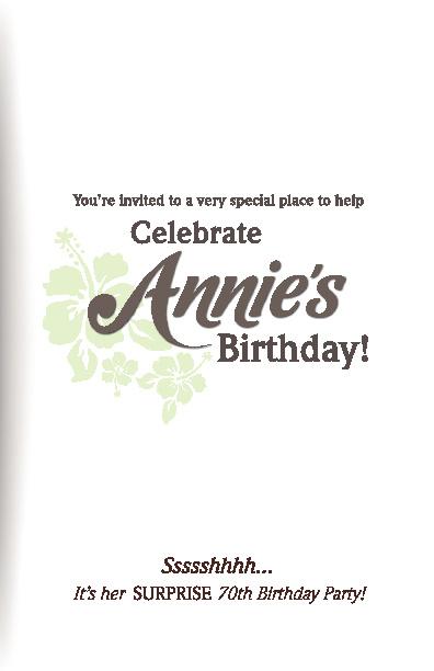 Moms Birthday Invite