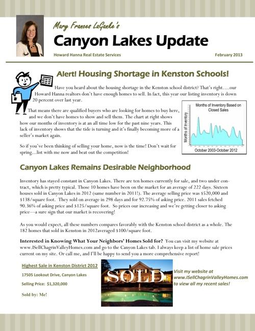 Canyon Lakes Update