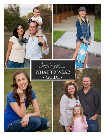 Laura Sweet Photography - What to Wear Guide