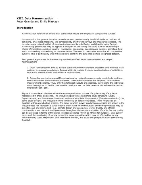 CCSG - 13. Data Harmonization