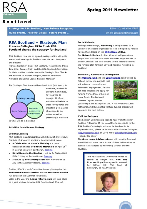 RSA Scotland Newsletter