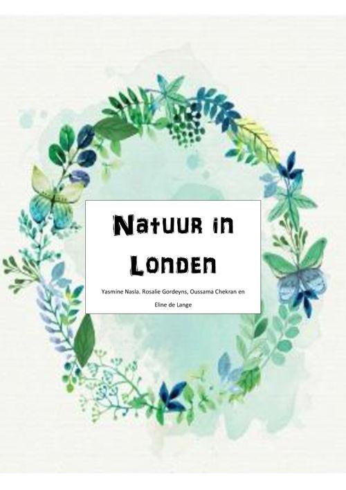 Natuur in Londen, biologie opdracht
