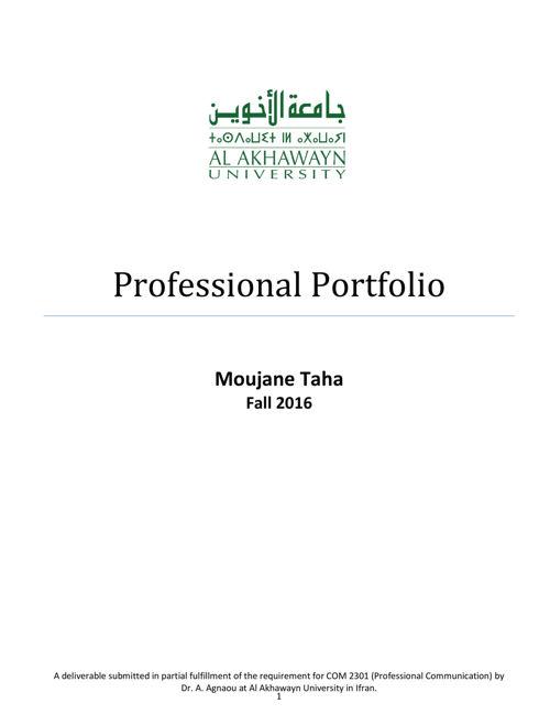 MoujaneTaha_CareerPortfolio