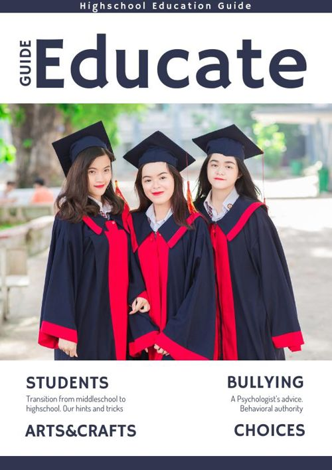 Conception de magazine scolaire