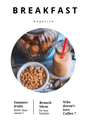 Design de magazines alimentaire