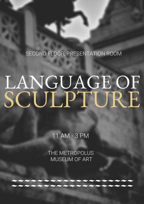 Flyer d'exposition d'art