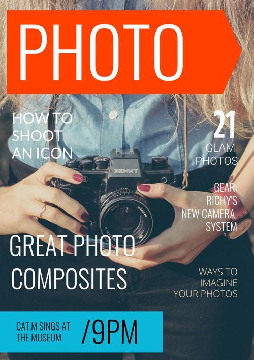 Modern Photography Magazine Cover Design