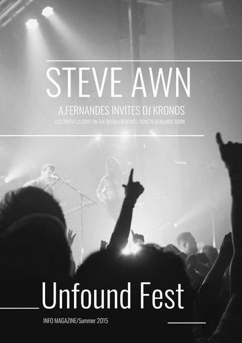 Design de brochure festival de musique