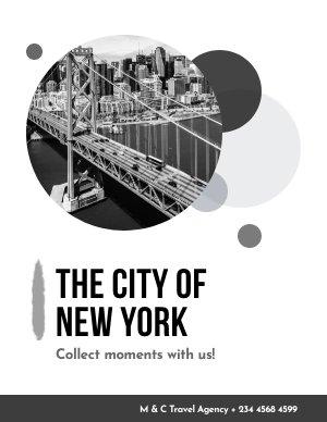 Black & White Travel Brochure Cover Design