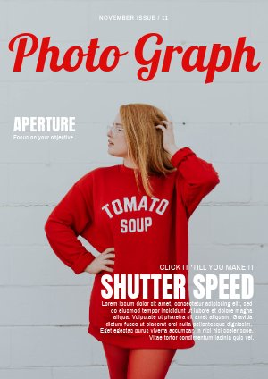 Design de couverture de magazine de photographie