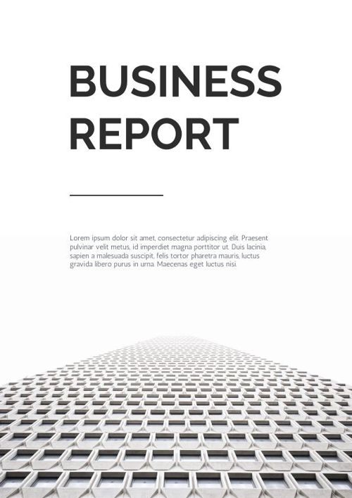 Black & White Business Report Design