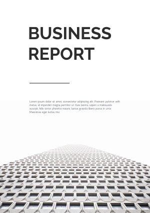 Design in bianco e nero per report commerciale