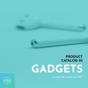Design per catalogo di gadget elettronici e tecnologici