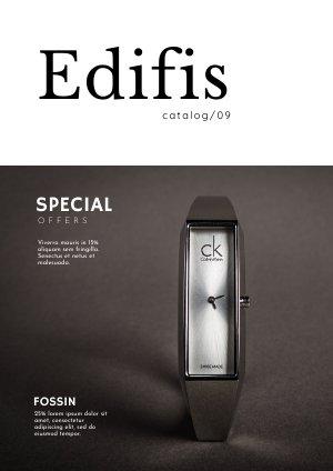 Design per catalogo brochure di negozio d'orologeria