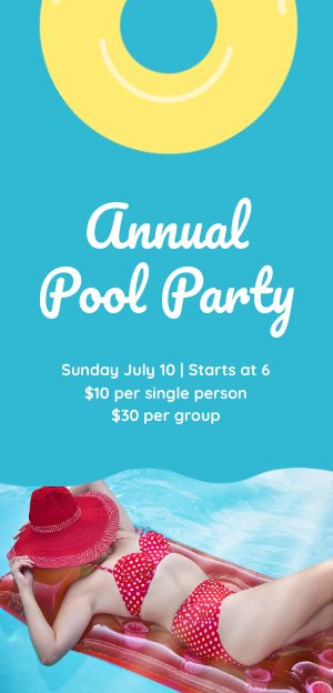 Pool Party Flyer Design