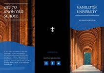 Modern College Tri Fold Brochure Example