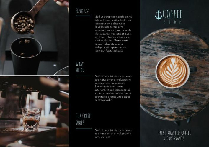 Dark Coffee Shop Tri Fold Brochure Example