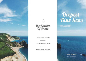 Beach Travel Trifold Brochure Example