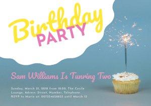 Spaß-Einladungskarte Flyer Vorlage Zur Geburtstagsfeier