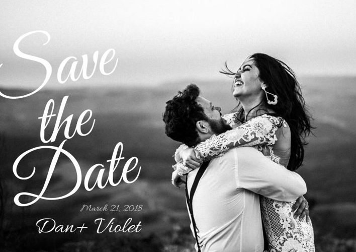 Save the Date Flyer (s/w)