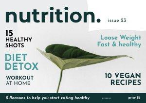 Modello gratuito per rivista di salute e benessere