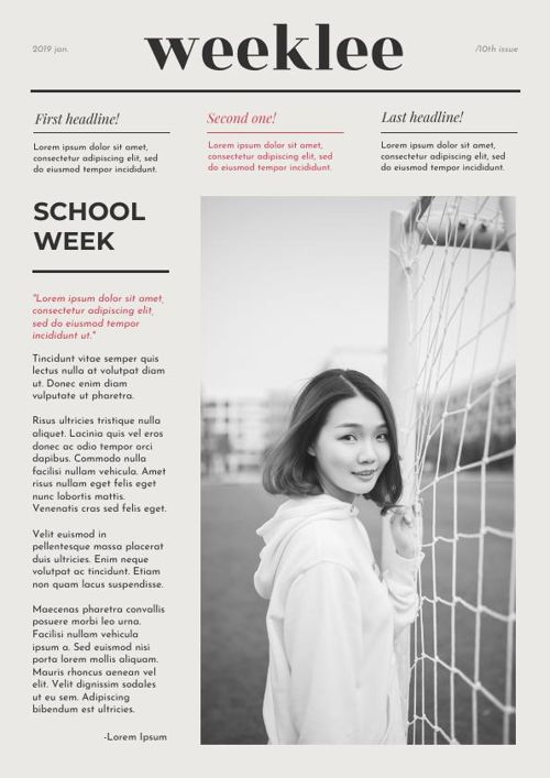Newspaper Template for Students