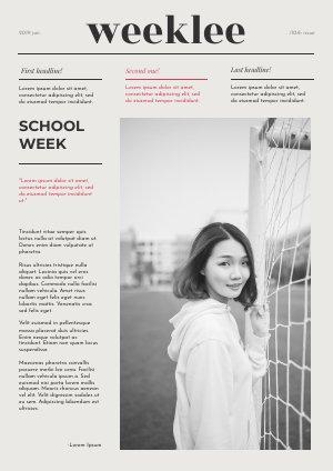 Modèle de journal pour les étudiants