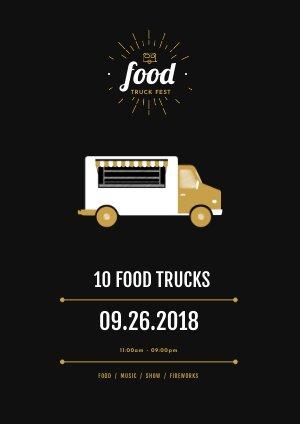 Modèle de flyer pour festival de cuisine de rue
